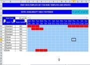 Télécharger Planning hôtel Excel gratuit